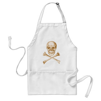 Skull and Cross Bones - Sepia Adult Apron