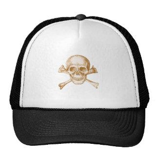 Skull and Cross Bones - Sepia Trucker Hat