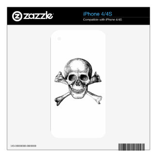 Skull and Cross Bones Skin For iPhone 4S