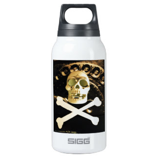 Skull and Cross Bones Thermos Water Bottle