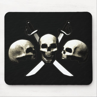 Skull and Cross-Swords Mouse Pad