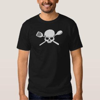 skull and cross utensils t-shirt