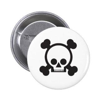 skull and crossbones 2 pinback buttons