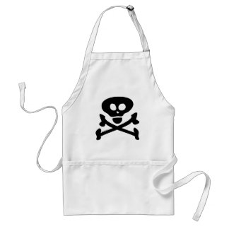 Skull and Crossbones Adult Apron