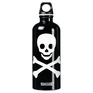 Skull and Crossbones Aluminum Water Bottle
