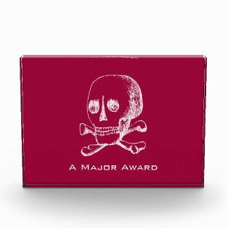 Skull and Crossbones Angled Acrylic Award