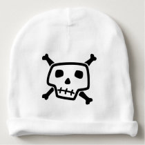 Skull and Crossbones Baby Beanie