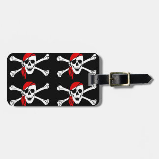 Skull and Crossbones Bag Tag