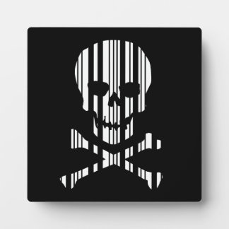 SKULL AND CROSSBONES BAR CODE Poison Barcode Plaque