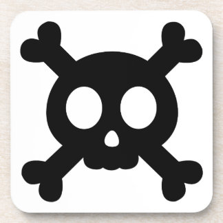 Skull and Crossbones Beverage Coasters