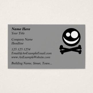 Skull and Crossbones. Black and White. Business Card