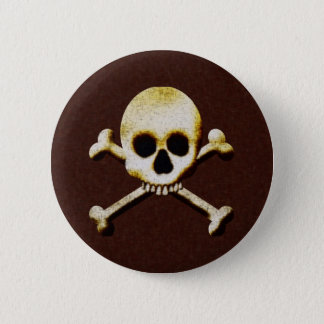 Skull And Crossbones Button