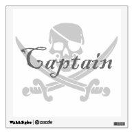 Skull and Crossbones - Captain Wall Skins