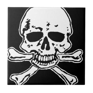 skull and crossbones ceramic tile
