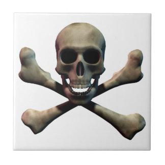Skull and Crossbones Ceramic Tiles