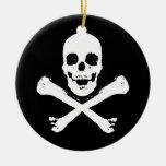 Skull and Crossbones Christmas Tree Ornament