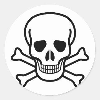 Skull and Crossbones Classic Round Sticker