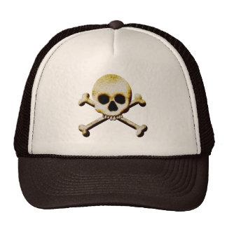 Skull And Crossbones Creepy Halloween Costume Trucker Hats