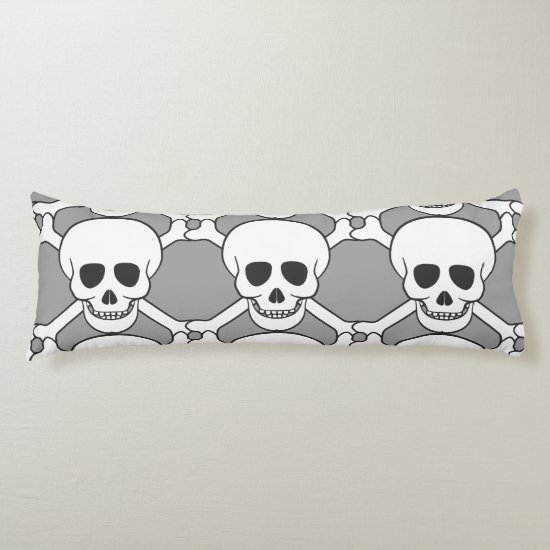 Skull and Crossbones Custom Cotton Body Pillow