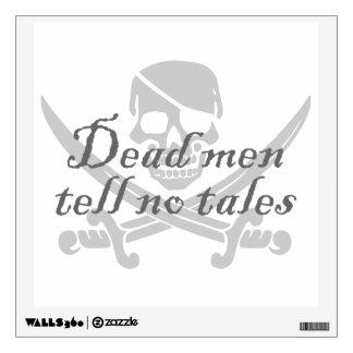 Skull and Crossbones - Dead Men Tell No Tales Room Stickers