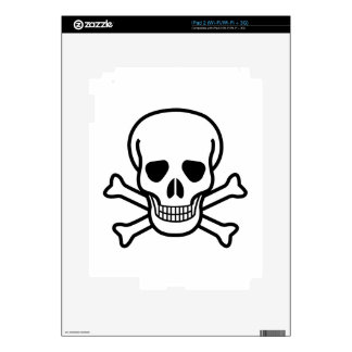 Skull and Crossbones death symbol Decal For iPad 2