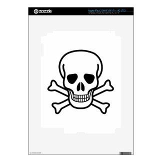 Skull and Crossbones death symbol iPad 3 Decal