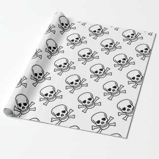 Skull and Crossbones death symbol Wrapping Paper