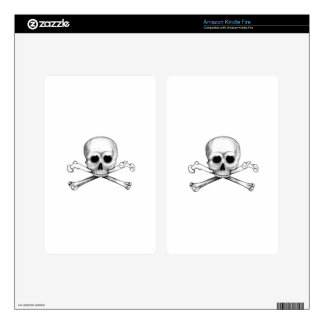 Skull and Crossbones Decal For Kindle Fire