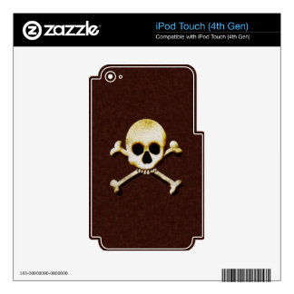 Skull And Crossbones Decals For iPod Touch 4G
