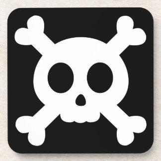 Skull and Crossbones Drink Coaster