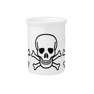 Skull and Crossbones Drink Pitchers