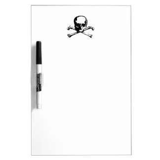 Skull And Crossbones Dry-Erase Boards