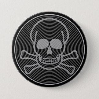Skull and Crossbones Emblem Pinback Button