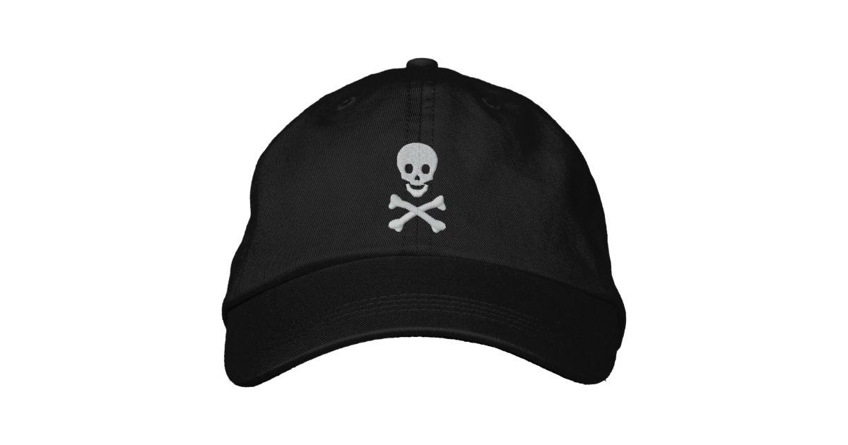 2fdb742f7 Skull and Crossbones Embroidered Baseball Cap | Zazzle.com