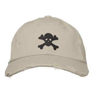 Skull and Crossbones Embroidered Baseball Hat