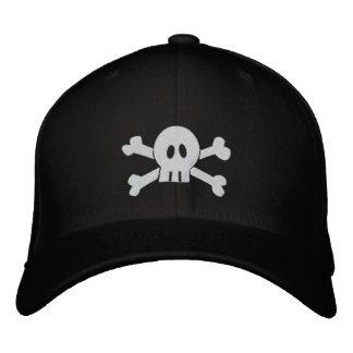 Skull and Crossbones Embroidered Baseball Hat
