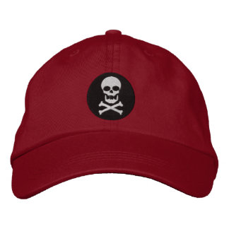 Skull And Crossbones Embroidered Cap Embroidered Hats