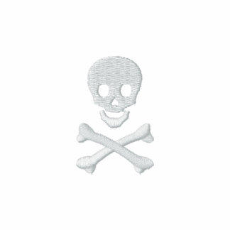 Skull and Crossbones Embroidered Shirts