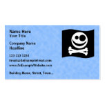 Skull and Crossbones Flag. Black and White. Double-Sided Standard Business Cards (Pack Of 100)