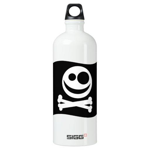 Skull and Crossbones Flag. Black and White. SIGG Traveler 1.0L Water Bottle