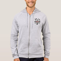 Skull and Crossbones Fleece Zip Hoodie