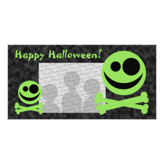 Skull and Crossbones. Green and Black. Photo Cards