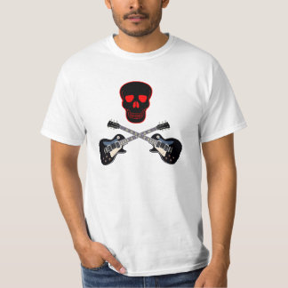 skull and crossbones guitar T-Shirt
