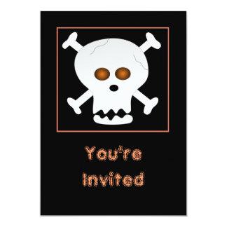 Skull and Crossbones Halloween Party Invitation