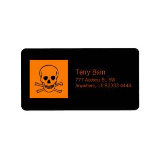 Skull and Crossbones Hazard Label
