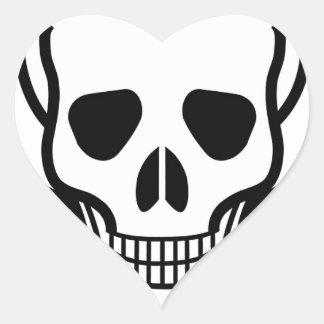 Skull and Crossbones Heart Sticker