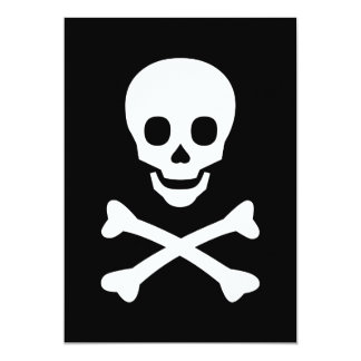 Skull and Crossbones 5x7 Paper Invitation Card