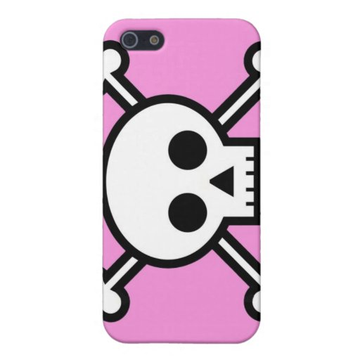 skull and crossbones iPhone pink iPhone SE/5/5s Case