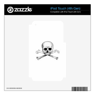 Skull and Crossbones iPod Touch 4G Skin