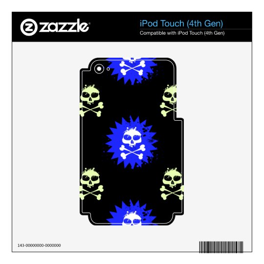 Skull and Crossbones iPod Touch 4G Skins
